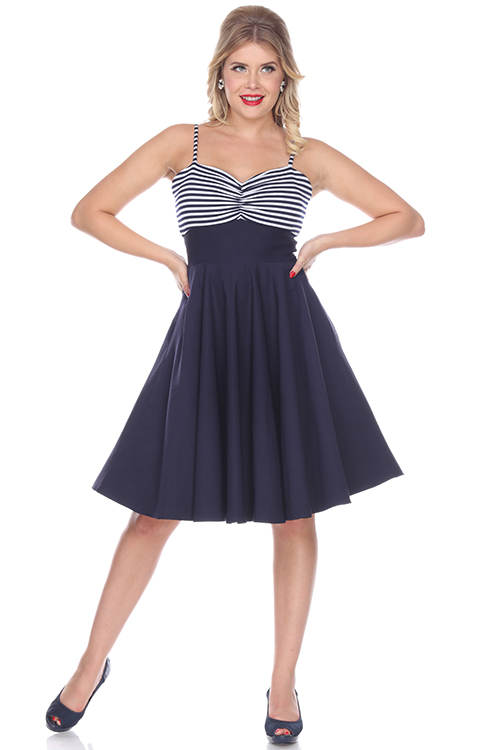 Bettie Page Nautical Vintage Inspired Dress Dee Foreman